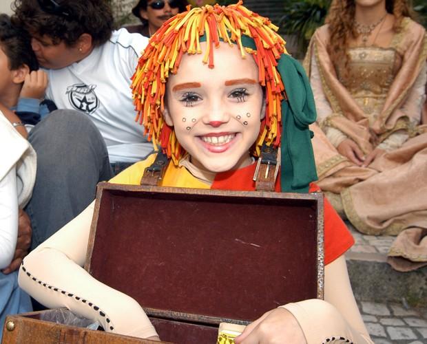Isabelle Drummond como Emília, no Sítio do Picapau Amarelo (Foto: Angelo Lucas / TV Globo)