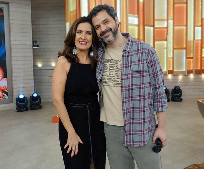 Fátima com o ator Bruno Garcia  (Foto: Juliana Hippert/Gshow)