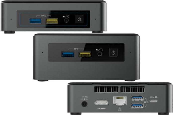 Oferta de novos NUCs mantem modelo compacto, para SSDs, e modelo maior, que aceita HDs e SSDs (Foto: Divulgação/Intel)