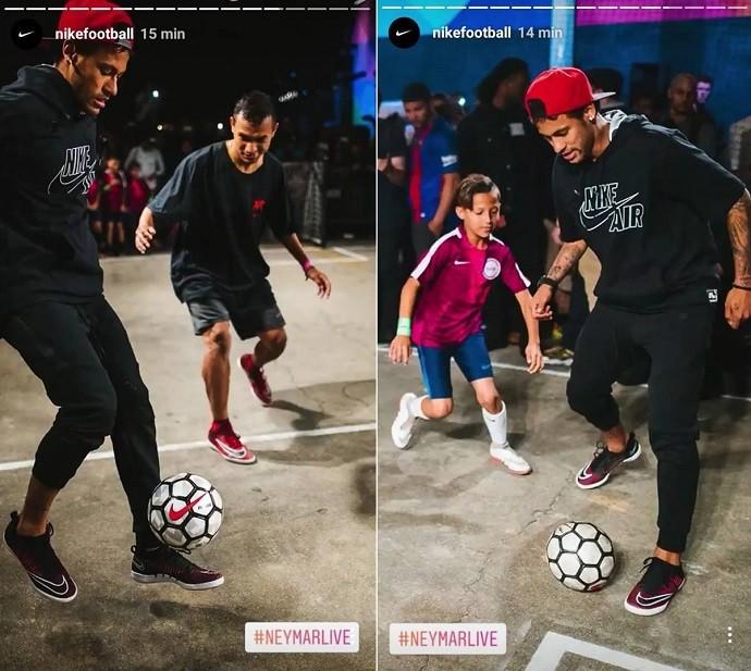 Neymar joga bola com fãs em Los Angeles