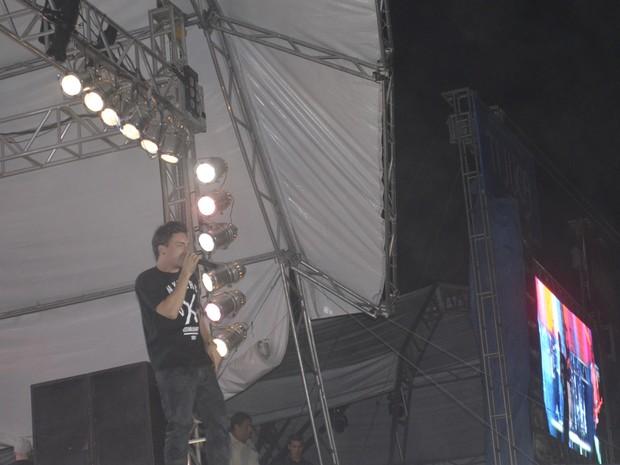 Vocalista da banda NXZERO, Di Ferrero (Foto: Dyepeson Martis/G1)