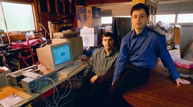 Larry Page e Sergey Brin: os criadores do Google  (Foto: Reprodução )