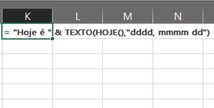 Use aspas para separar texto de operações matemáticas dentro de fórmulas (Foto: Reprodução/Filipe Garrett)