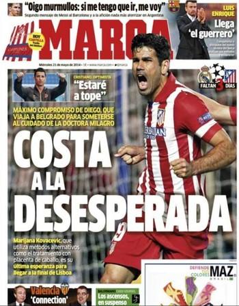 Diego Costa Capa Marca (Foto: Reprodução)