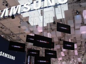 Estande da Samsung (Foto: Amanda Demetrio/G1)