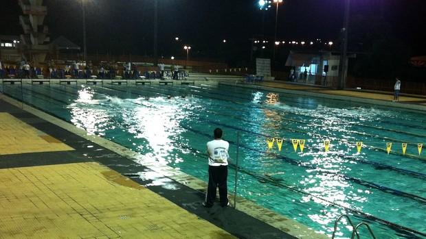 Competição está sendo realizada no Parque Aquático da Vila Olímpica de Manaus (Foto: Adeilson Albuquerque/GLOBOESPORTE.COM)