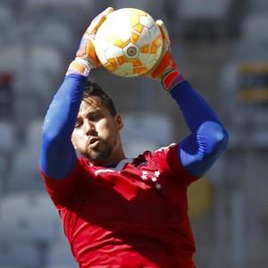Fábio, goleiro do Cruzeiro, treina no Mineirão (Foto: Washington Alves/Light Press/Cruzeiro)