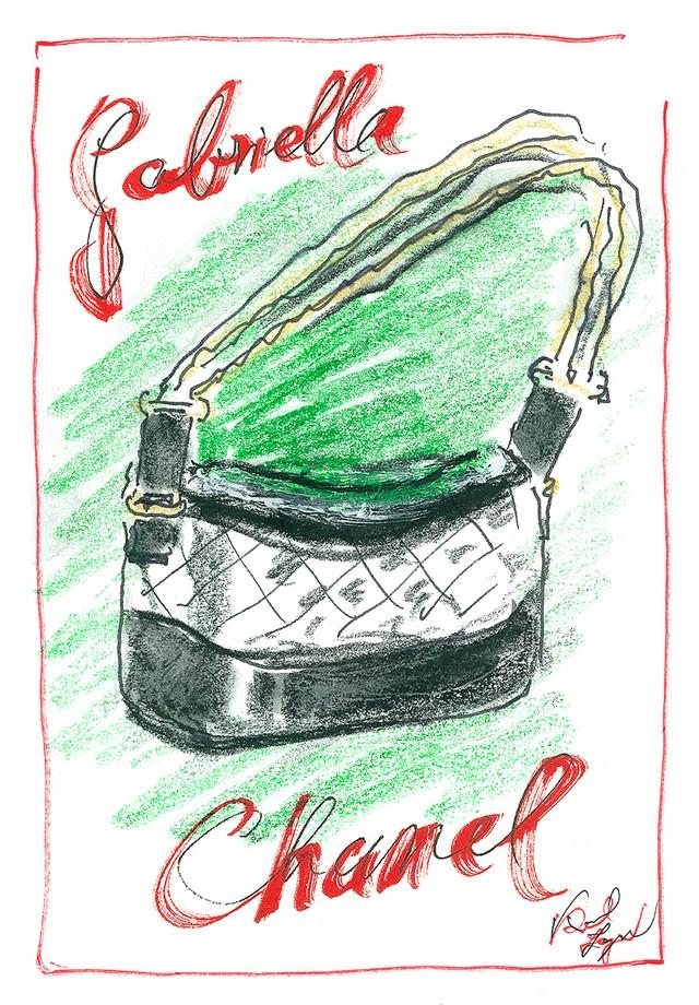A bolsa Gabrielle em croqui de Karl Lagerfeld (Foto: Divulgação)
