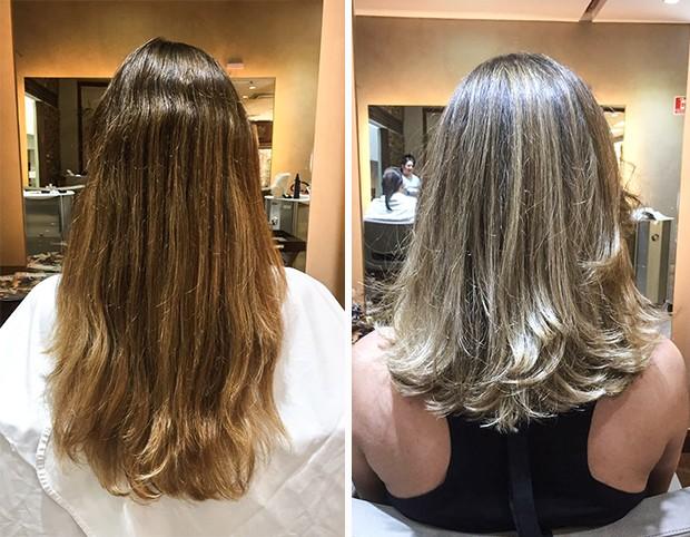 Antes e depois: Marcelle Bittar (Foto: Reprodução)