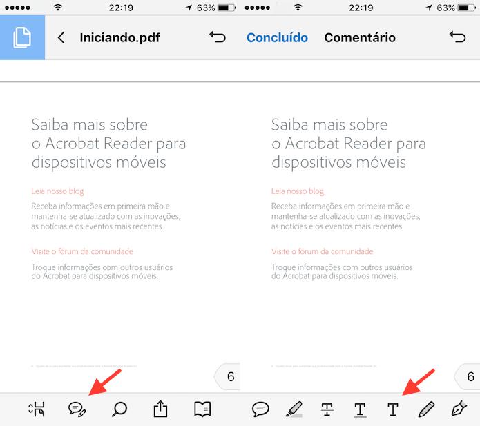 Caminho para ativar a ferramenta de escrita do Adobe Reader (Foto: Reprodução/Marvin Costa)