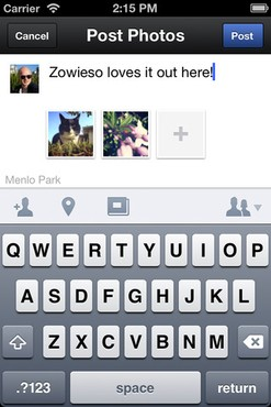 screenshot de Facebook Camera