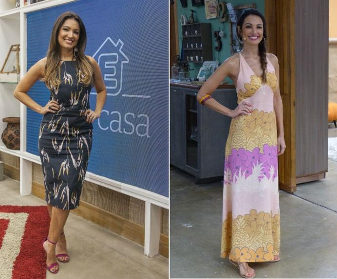 Vestidos e mais vestidos! A apresentadora arrasa com vários modelos da peça (Foto: Gshow)