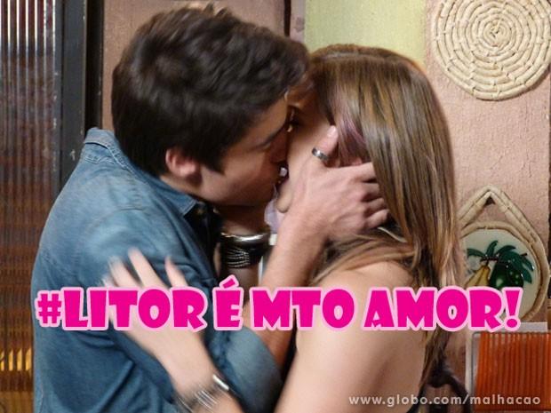 Quem tava com sdds de ver esses lindos se beijando??? (Foto: Malhação / Tv Globo)
