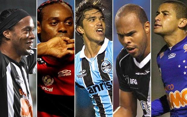 Montagem gols mais bonitos 1º turno É Gol (Foto: Montagem SporTV)