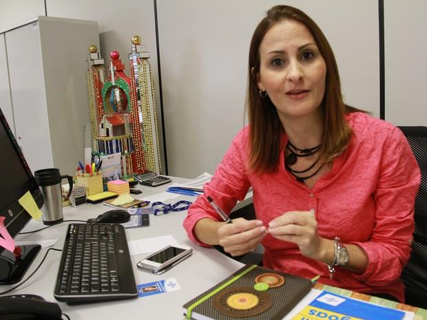 A gerente do Sebrae Vanessa Fagá (Foto: Waldson Costa/G1)