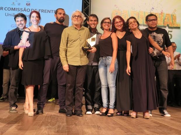 A União Imperial faturou o prêmio de melhor comissão de frente (Foto: LG Rodrigues / G1)