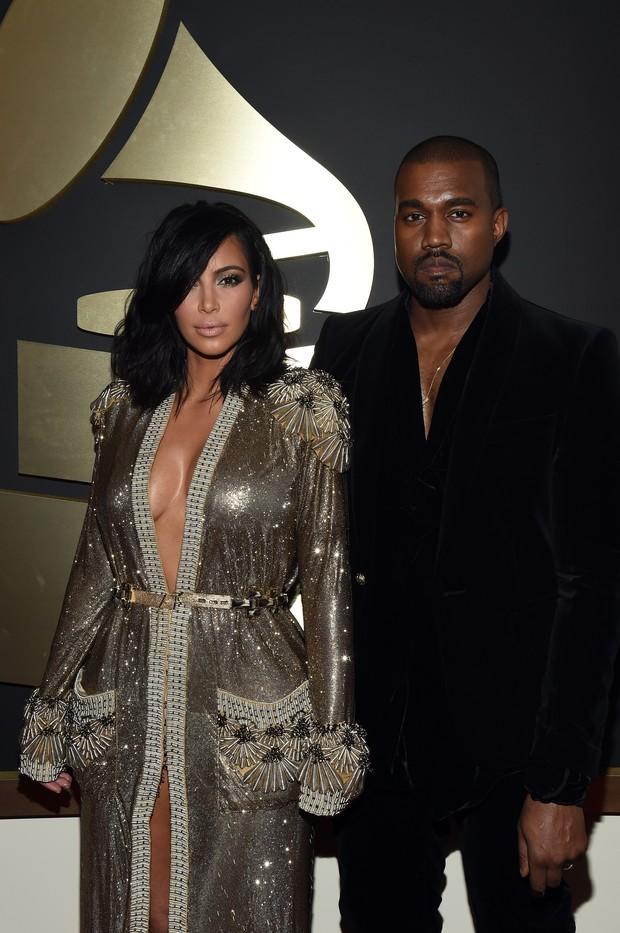 Kim Kardashian e Kanye West (Foto: AFP)