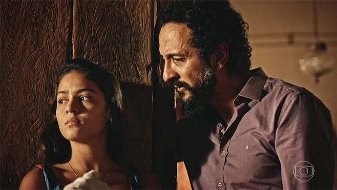 Bento alerta Olívia em relação a Miguel (Foto: TV Globo)