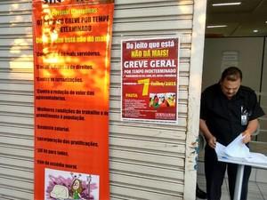 Agência do INSS de Indaiatuba tem funcionamento parcial por conta da greve (Foto: Cristiano Machado / SinsPrev)
