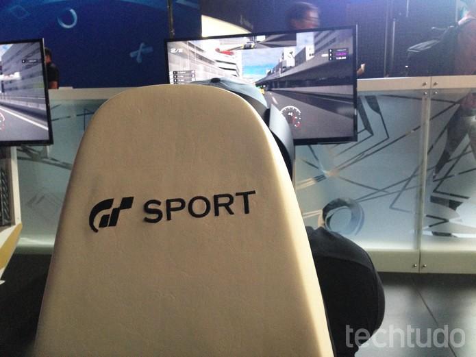 Gran Turimo Sport tem controles bem fluídos, ao menos no cockpit (Foto: Felipe Vinha/TechTudo)