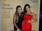 Larissa Manoela e Kéfera vão à festa de 19 anos de Flávia Pavanelli