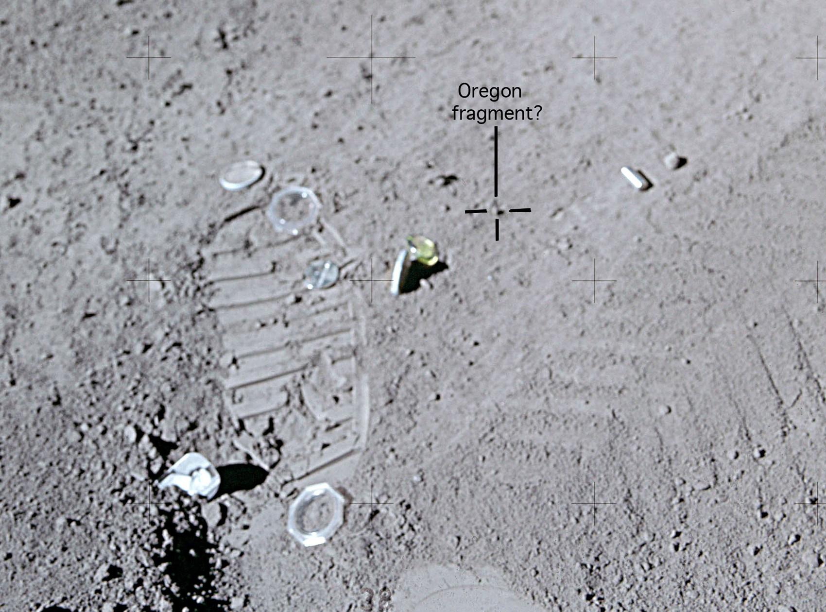 Pedaço de rocha da Terra deixada na Lua