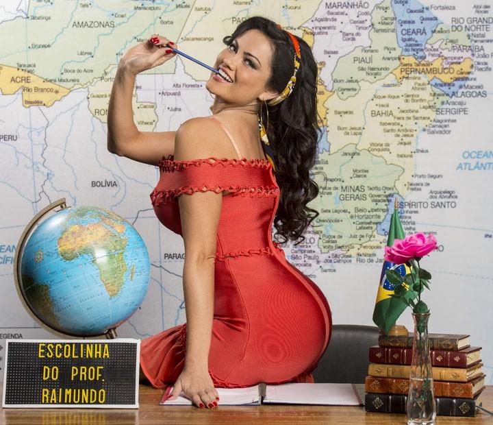 Ellen Rocche não precisou emagrecer para viver a personagem (Foto: João Miguel Junior / TV Globo)