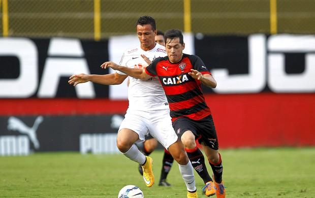 Vitoria x Santos, Leandro Damião (Foto: Felipe Oliveira / Getty Images)
