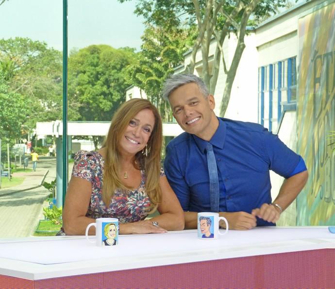 Susana Vieira e Otaviano Costa apresentam o 'Vídeo Show' (Foto: Cristina Cople / Gshow)