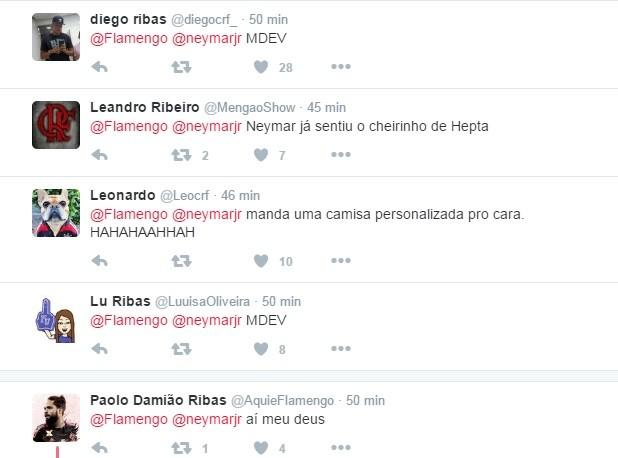 Torcedores foram à loucura com recado de Neymar (Foto: Reprodução/Twitter)