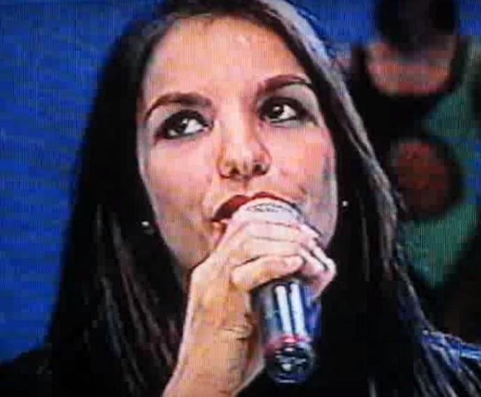 Ivete pisava pela primeira vez no palco do Domingão com a Banda Eva (Foto: CEDOC/TV Globo)