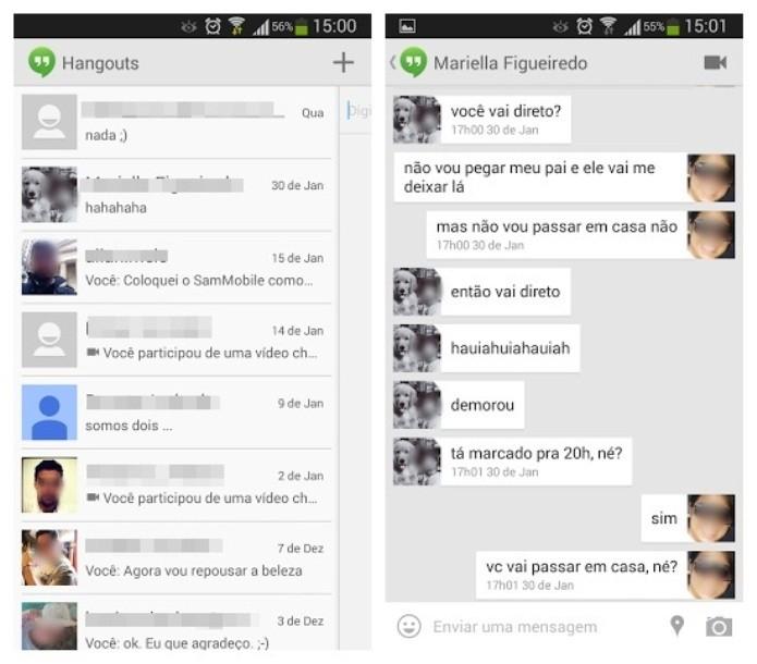 O Hangouts é o aplicativo mensageiro do Google (Foto: Reprodução/Lívia Dâmaso)