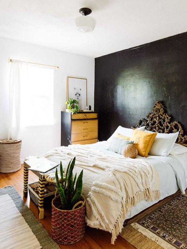 Décor do dia: quarto infantil com parede preta (Foto: Dabito/ divulgação)