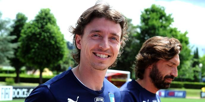 Riccardo Montolivo e Andrea Pirlo treino Itália (Foto: Getty Images)