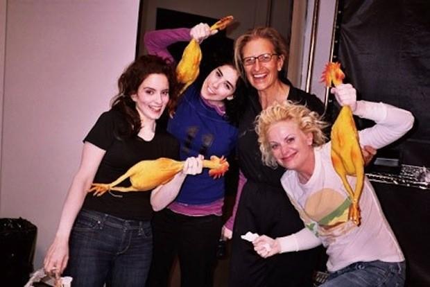 Tina Fey, Sarah Silverman, Annie Leibovitz e Amy Poehler (Foto: .)