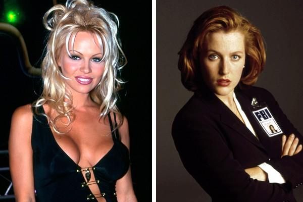 Pamela Anderson perdeu o papel de Dana Scully para Gillian Anderson (Foto: Getty Images / Reprodução)