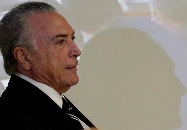 O presidente Michel Temer em cerimônia no Palácio do Planalto (Foto: Ueslei Marcelino/Reuters)