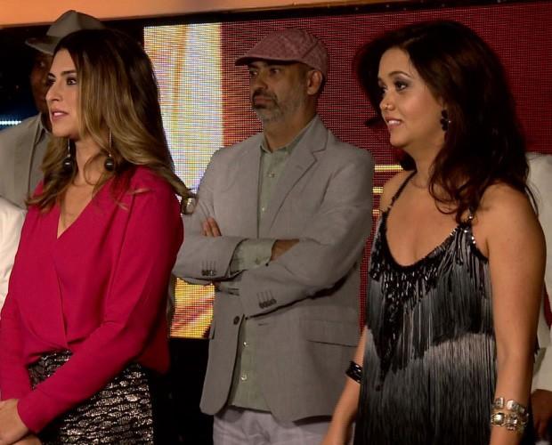 Fê Paes Leme na Sala de Interatividade (Foto: SuperStar / TV Globo)