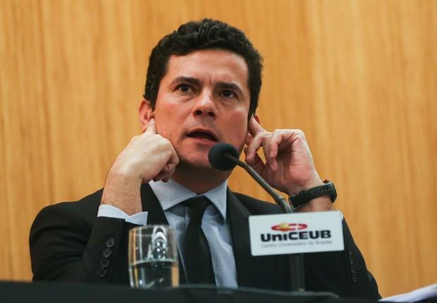 O juiz Sérgio Moro , responsável pela Lava Jato, em evento sobre justiça no Brasil (Foto: José Cruz/Agência Brasil)