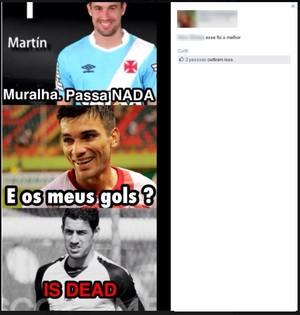 meme kinho gol martín silva (Foto: Reprodução/Facebook)