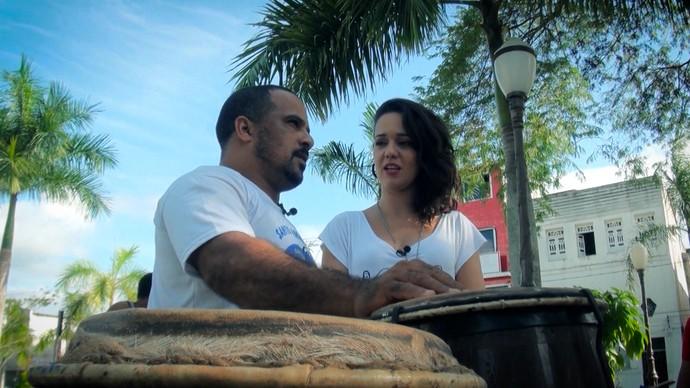 Mestre de capoeira Claudio Casais fala das manifestações culturais da região (Foto: TV Bahia)