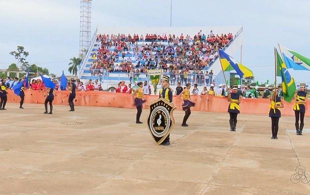 4º Festival Internacional de Bandas e Fanfarras realizado em Guajará-Mirim (Foto: Bom Dia Amazônia)