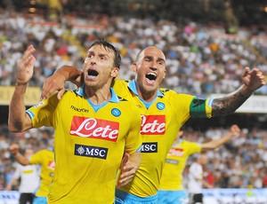 Hugo Campagnaro Paolo Cannavaro gol Napoli (Foto: Getty Images)