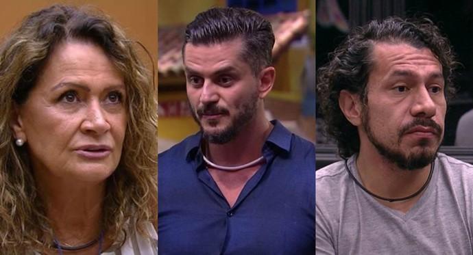 Ieda, Marcos e Rômulo são os emparedados da semana (Foto: TV Globo)