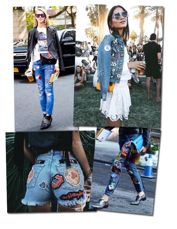Você pode usar as aplicações na sua calça, jaquetas e vestidos (Foto: Reprodução / Pinterest)