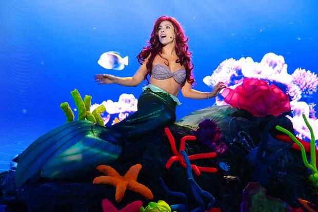 Patricia Abravanel vestida de Ariel, de A Pequena Sereia (Foto: Bruno Correa/SBT)