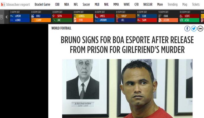 Imprensa internacional repercute contratação de Bruno (Foto: Reprodução)