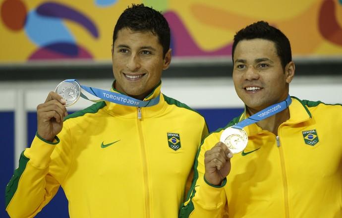 Felipe França e Felipe Lima ouro e prata Pan-Americano 2015 (Foto: Erich Schlegel/Reuters)