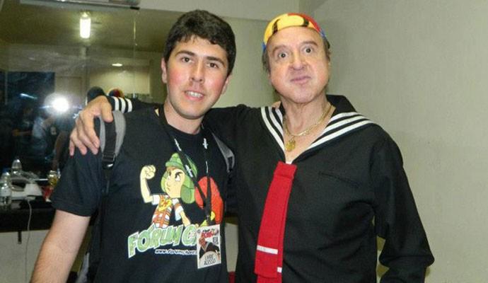 Antonio Felipe Purcino e Carlos Villagrán, dublador do Quico em 'Chaves'