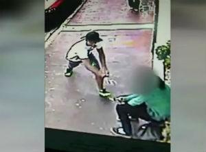 Homem rouba celular de jovem no centro de Sorocaba (Foto: Reprodução/TV TEM)